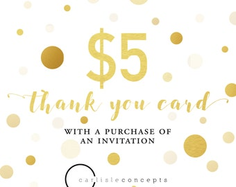 Digital/Printable Thank You Card - For Any CarlisleConcepts Invitation