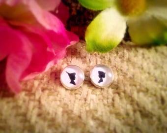 Disney Peter Pan And Wendy Cute Stud Earrings. 10mm.
