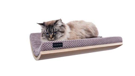 16 39 39 cat perch wall mounted cat shelfcurved bedcat by. Black Bedroom Furniture Sets. Home Design Ideas
