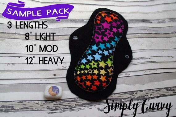 Cloth pad starter set CSP Bundle Sample cloth pads sets of 3