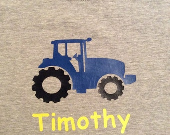 Children's Personalized Tractor Shirt
