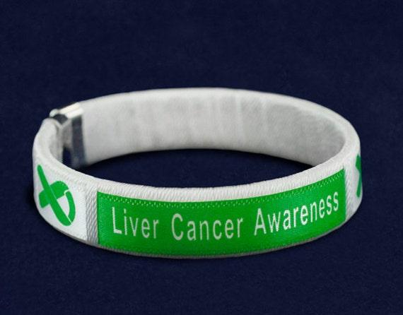 Liver Cancer Awareness Bangle Bracelets