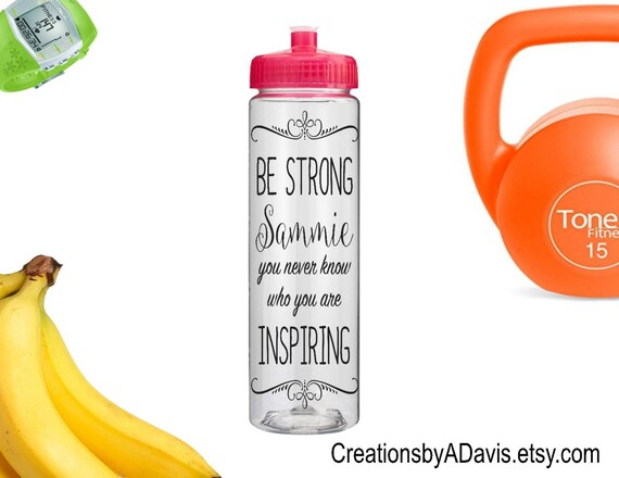 Inspirational Quote Water Bottle / By CreationsbyADavis On