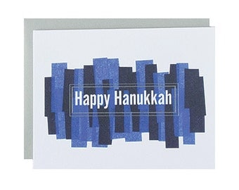 "Letterpress Hanukkah Box Set, ""Happy Hanukkah"", Modern, Color, Greeting Card"