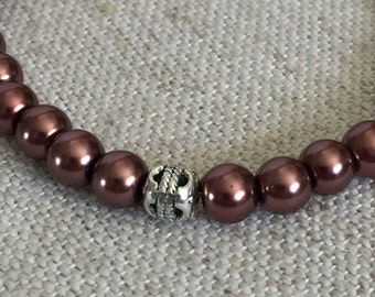 Over The Maroon Beaded Bracelet