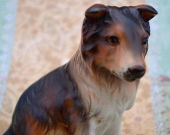 Collie Dog Figurine, Collie Figurine, Collie Statue, Collie Dog Gift, Collie Dog Statue, Dog Lover, Collie Puppy, Rough Collie Pup, Epsteam