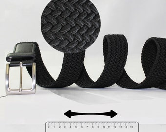 Stretch High Comfort Elastic Woven Belt with Extra Strong Nickelfree Buckle. Can Easily Stretch up to 6  In. Extra