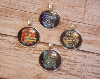 Harry Potter House Crest Pendants