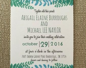 Green Vines Invitation
