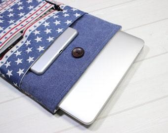 Captain America laptop case, Macbook Air case 13, Macbook Pro sleeve, star Macbook case 13, Pro Retina sleeve 13, 13 inch laptop case