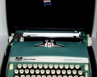 Smith Corona Super Sterling Typewriter Manual Nice with Everything Working (Needs Ribbon)