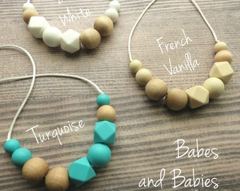 Free Shipping In Us Silicone Teething Necklace By Babesnbabies