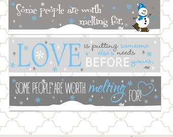 SVG Olaf Snowman melting for you quotes PNG EPS digital