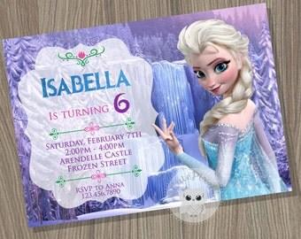 Frozen Invitation, Disney Frozen, Elsa Invitation, disney Frozen Invitation, Frozen Birthday, Frozen Party