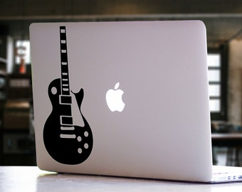 Guitar Instrument Musical MacBook Decal - Mac iPad Laptop Vinyl Decal Sticker