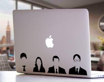 The Office TV Show - Michael, Jim, Pam, & Dwight - MacBook Laptop Car Window Decal Sticker