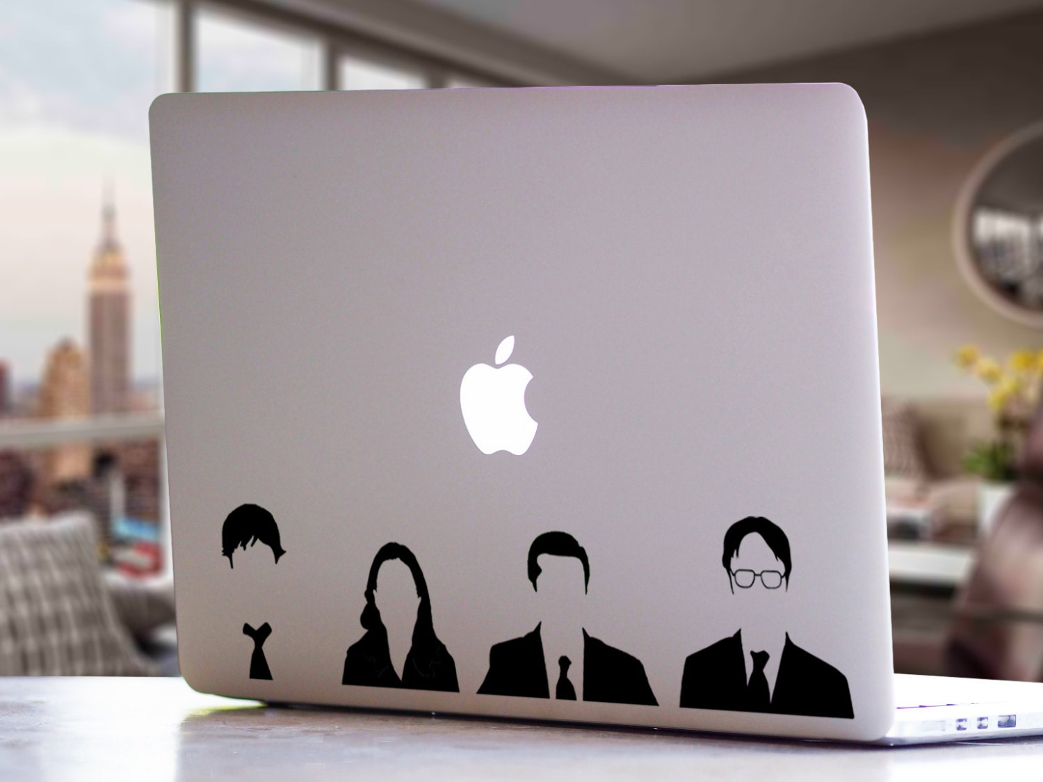The Office Tv Show Michael Jim Pam Dwight Macbook
