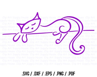Cat SVG, Veterinary Office Wall Art, Cat Wall Art, Animal SVG File for Vinyl Cutters, Screen Printing, Silhouette, Die Cut Machines - CA103