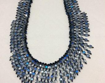 Blue Chinese crystal necklace