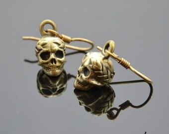 Earrings Victorious Skulls Bronze