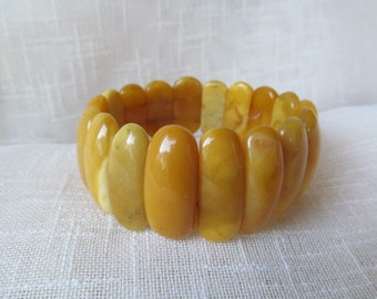 Natural Baltic Amber Butterscotch Bracelet 23,5 gram Yellow Amber Jewelry Butterscotch Stretch Bracelet