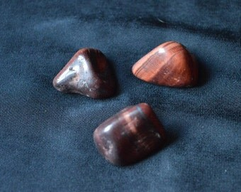 Red Tigers Eye Crystal Tumblestones for healing, Reiki and meditation