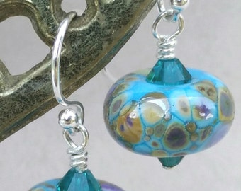 Water Garden Lampwork Earrings