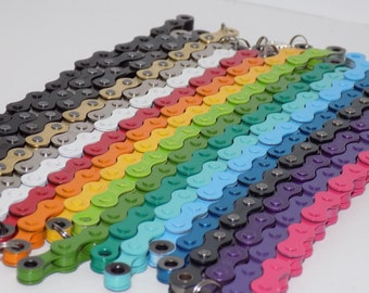 Colored Bicycle Chain Bracelet- Bicycle Jewelry