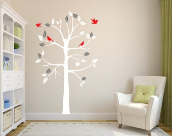 Tree Wall decal (for shelves) REMOVABLE WALL STICKER