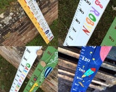 Child's Wooden Height Chart - Handpainted - Nautical, Beach, Space, Animal. Personalised Growth Chart - Made To Order