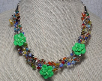 045N Flower Power Necklace
