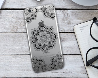 Tribal Mandala  iPhone Case - Black Tribal Mandala Phone Case - Tribal Phone Case - Mandala iPhone Case - Black iPhone Case - iPhone Case -