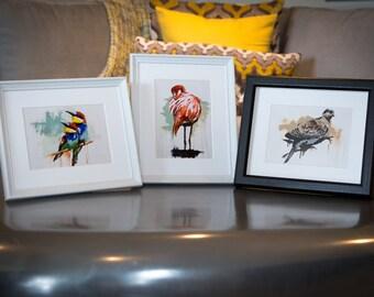 Love Birds Trio Canvas and fine art prints