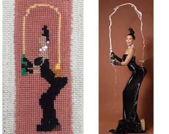 Kim Kardashian Cross Stitch Portrait