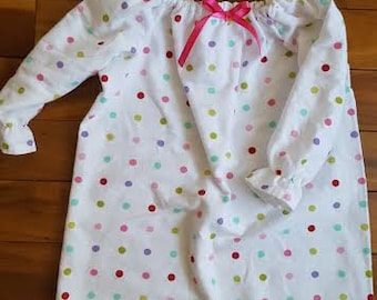 Girls Cotton Flannel Nightgown Flannel Nightgown