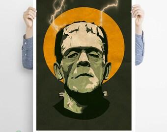 Frankenstein! The monster of Frankenstein - classic, horror, movie, hammer, mary shelley, monsters, retro, vintage, poster, gift, dracula