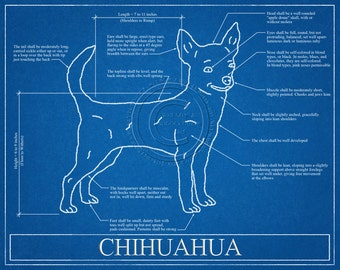 Chihuahua Elevation / Chihuahua Art / Chihuahua Wall Art / Chihuahua Gift / Chihuahua Print
