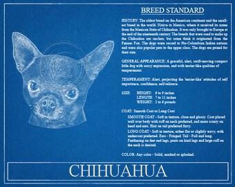 Chihuahua Portrait / Chihuahua Art / Chihuahua Wall Art / Chihuahua Print / Chihuahua Gift