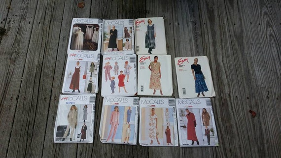 Set of Sewing Patterns, Craft Patterns, McCalls patterns, Sewing Supplies, Craft Supplies, Women's Clothing Patterns, 90's patterns