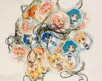 Mini Sailor Moon Keychain Set