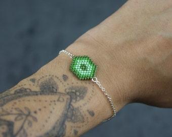 Miyuki delicas Hexagon bracelet