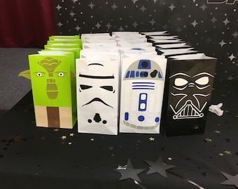 Star wars themed favor bags - set of 12