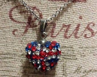 """Union Jack Necklace 18"""" Chain"""