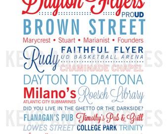 University of Dayton 8x10 print