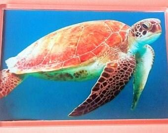 Turtle - Jumbo Acrylic Fridge Magnet