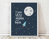 kids art room,poster kids, 2 sizes included,outer space,wall art, wall art decor, kids room, baby print, nursery, baby room, art print, moon