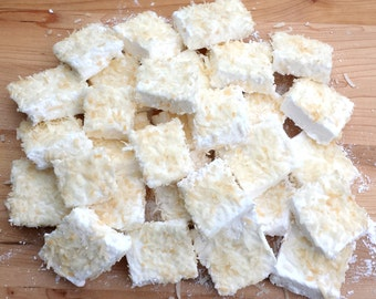 Siesta Key Coconut Rum Gourmet Marshmallows with Toasted Coconut By Cookie Gift Can Queen