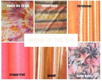 Fabric Options----Sirens of the Sun  and Into the Abyss