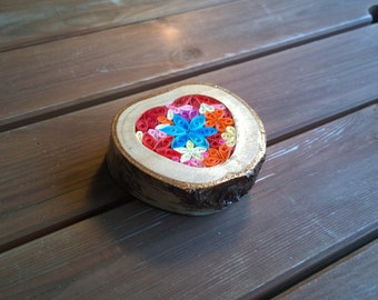 Brilliantly Bright Flower Quill Ornament/Paper-weight