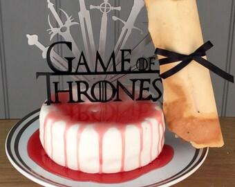Handmade Game of Thrones Cake Topper